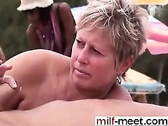 Swingers at the Nudist Beach - Cooter from MILF-MEET.COM