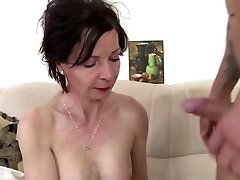 Bony granny suck and poke young boy's cock