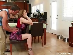 Amazing Step Mom Julia Ann loves playing