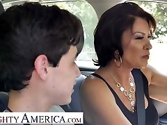 Super-naughty America Mrs. Fuller (Vanessa Videl) teaches Juan how