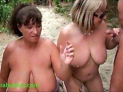 Granny Kims beach jism party