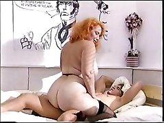 Big ass redhead mature fucks a young hard-on