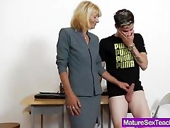 Mummy educator playing plus a cock