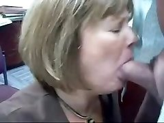 Mature Head #71 (2 vids of the Office Mega-slut doing her Job)