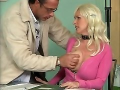 Huge-boobed German Mature Tearing Up in Office