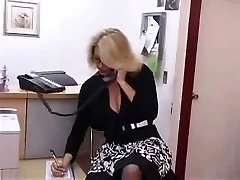 Huge-chested Mature Secretary Gets Fucked in Office