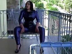 Italija Butas Seksualus Latekso Lady - Blowjob Handjob su Latekso Pirštinės - Cum mano Burnoje