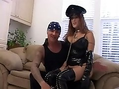 Busty Mature in Latex does Dual Ass-fuck