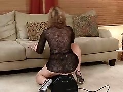 Steaming Mature Rides Sybian... IT4REBORN