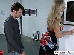 Sexy towheaded mother Julia Ann gets big jugs fucked