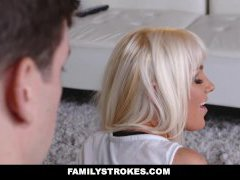 FamilyStrokes - Super-fucking-hot Blonde Cougar Stretched Out & Fucked