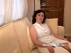 Chesty mature milf panty tease and striptease