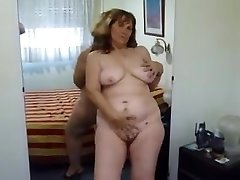 Strip show and taunting from my mature BBW wife