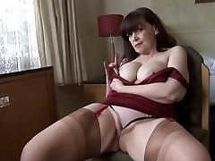 Big cupcakes mature thong play and striptease