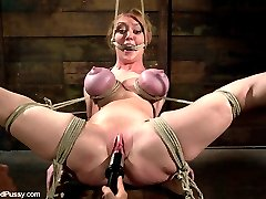 Darling returns to Wiredpussy for a long day of predicament bondage, electricity, ass hooks, and orgasms in the hands of one of the most loved and feared, femdoms in the world, Princess Donna.