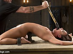 Amara is a new face to Device Bondage, but has been making the rounds here at the castle. She is a small, petite, yet feisty little slut that is willing to endure a lot to suffer for The Pope. She takes double clamps on her pussy and nipples with excessive weight added to them just to earn her first of many orgasms. Her body is assaulted with heavy floggings, whippings, and spankings. Breath control just makes her pussy get wetter and wetter as the day goes on. She is turning out to be a good little pain slut, but we may have to bring her back for further inspection.