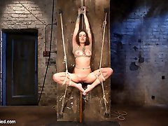 Tanned and new back from Thailand, Missy gets out special attention with unforgiving predicament bondage bondage leaving her to writhe in the bondage and perceive the ache. Worm roped on the floor, she gets pulled into an awkwardly tight frog-tie and suspended in the air. Straddled broad open, she is given a highly cruel pubes rope with a bowling ball and draped. Laid on the bed like a pillow princess, her gams are pulled up behind her in an unforgiving back bend. Without Mercy, Claire does not give into her snivels and begs for leniency. This bitch has to pay the price of admission to get our attention.
