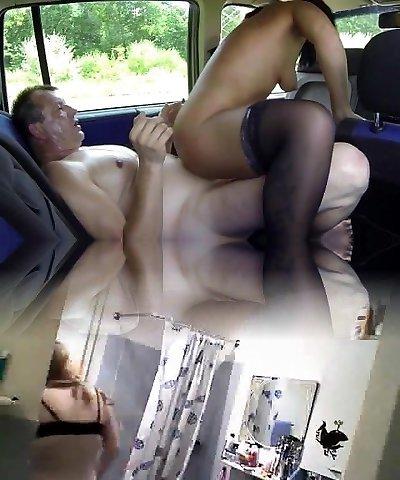 Ebenholz Bbw Masturbation Auto