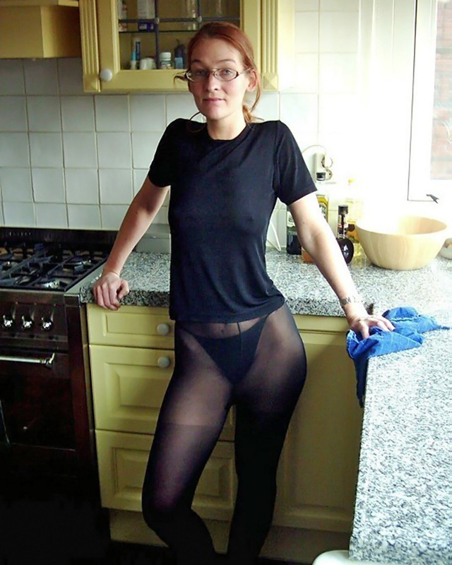 Privat pantyhose well worn