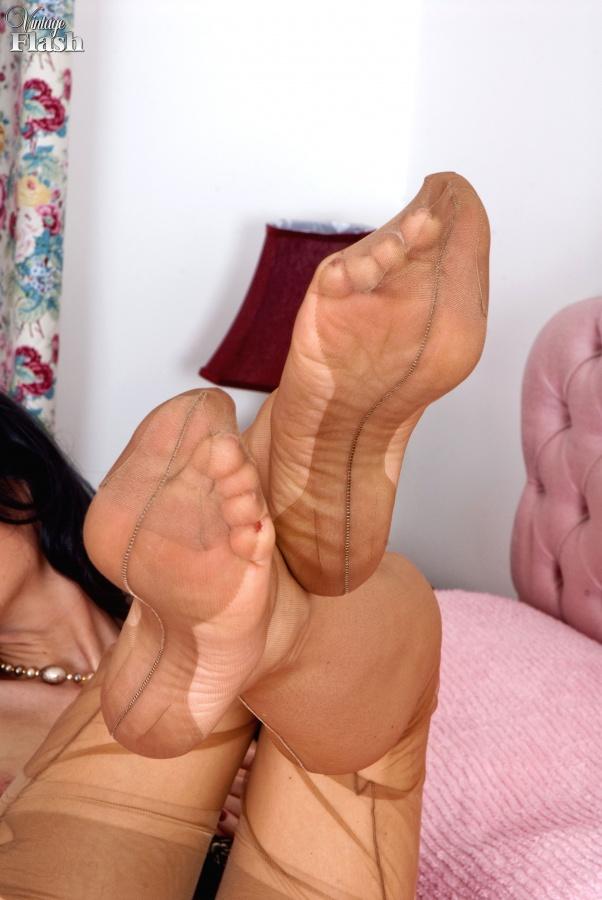 Smelling Nylon Feet Handjob