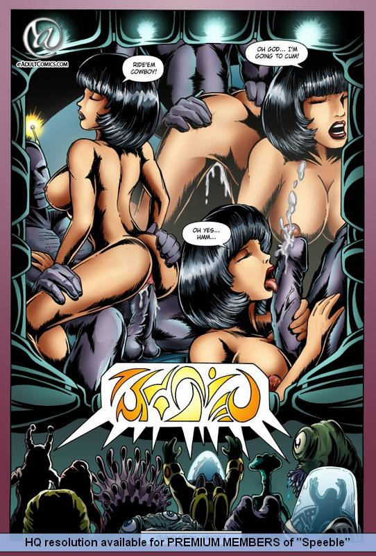 Alien Impregnation Toons - Porn comics Alien Abduction 1