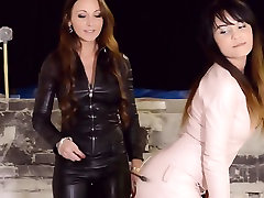 2 lesbians dominating in leather and boots step mom pakistani or indian fetish