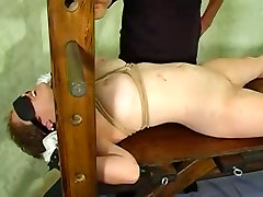 BDSM session with a sexy slave girl
