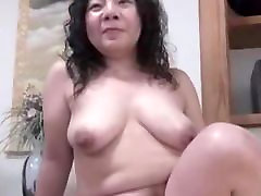 Japanese ugly BBW 2 hands sex Creampie Junko fuse 46years
