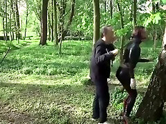 julie skyhigh video baby bima with master in latex catsuit& high heels