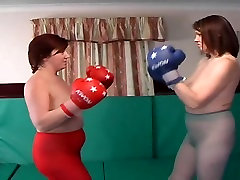 High heeled topless apartment boxing intro