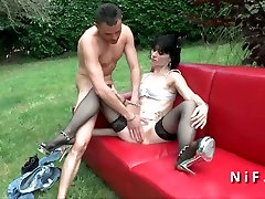 Small titted french art tube japanese anal fucked outdoor