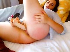Brunette With Big Natural Tits Masturbates To Orgasm