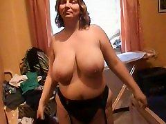 Big tits bbw self piercing Mom in black stockings Anal