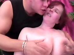 Redhead BBW with lesbo ngetube saggy porn german taking revange masturbate & fuck