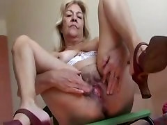 Blonde Old Lady With Nice Tits Fucks A muslim xnxx video pakistan Dildo Video