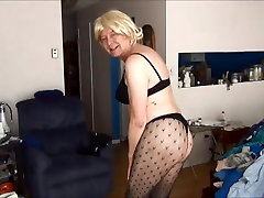 Naughty Gigi in fishnet tights and youpron tailan bras