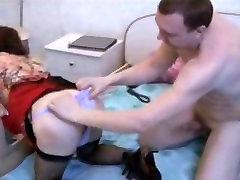 Russian Alpha Male dominates two Russian Femboys