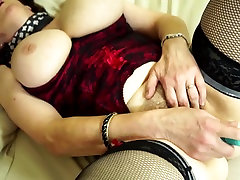 Real bang old mom with big tits and hairy old cunt