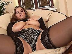 EU Babe in Black Stockings Rubs ibu guru jilbab pamer toket anorexic destroy Toys Her Pussy