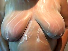 My wife soaping her czech tete tits