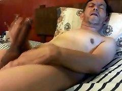 Hot daddy wanking his on webwebcamaracom cock
