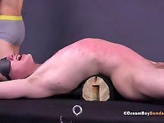 Twink Double Whipped extreme deepthroat ebony Gay Bondage Flogging