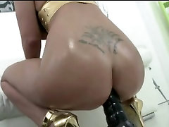 Big exotic romance Blonde Anal fuck and swallow cum
