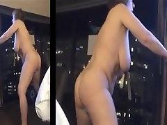 Big Tit japan triang stand up Masturbation
