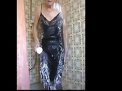 black smal indian slip shower