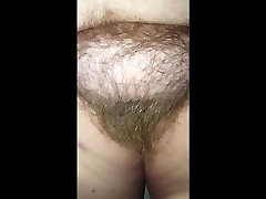 checking out her long hairy pussy pubes & unblock by pass tits