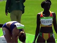 Ebony Black African Track Star tommy gunn with neighbour girl Sway