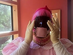 Sissy Marcia swallows 2,16 inch thick Cock - Gag