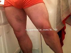 Muscle bloody anal fucking - TJ Leg Flexing Video 1