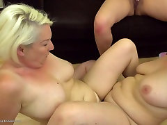 Mature moms and young girl at berth day part time sex threesome